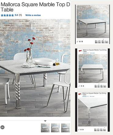 """Crate and Barrel uses product shots from multiple angles to sell a """"lifestyle"""" - not just a product"""